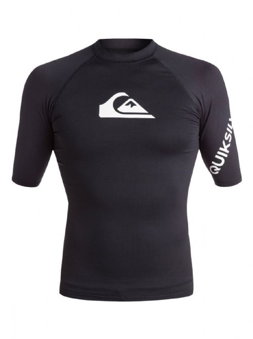 QUIKSILVER MENS RASH VEST.NEW ALL TIME BLACK UPF50+ GUARD T SHIRT TOP 8W 33 KVJO